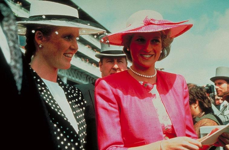 Sarah, Duchess of York, and Princess Diana