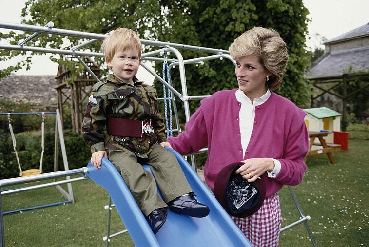 Prince Harry with Princess Diana