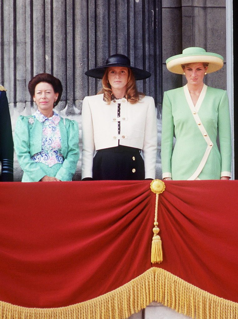 Princess Margaret, Sarah Ferguson, and Princess Diana