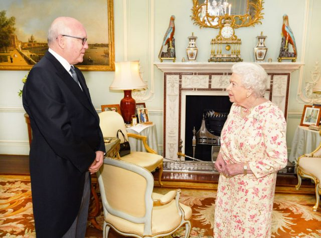 Queen Elizabeth II met with Honorable George Brandis, the Australian High Commissioner to the U.K., in May 2018
