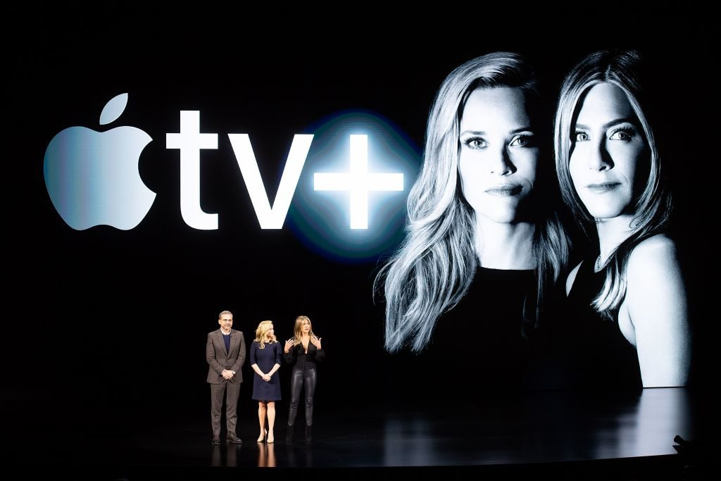 Reese Witherspoon, Steve Carell, and Jennifer Aniston The Morning Show Apple TV+