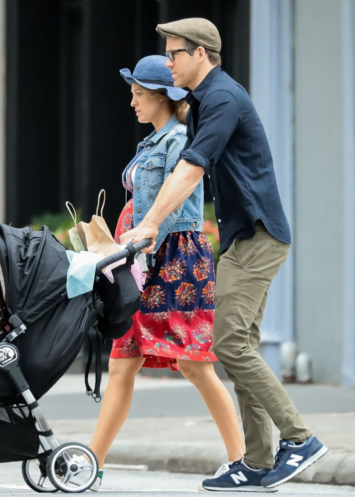 Blake Lively, Ryan Reynolds and their daughter Inez in New York City