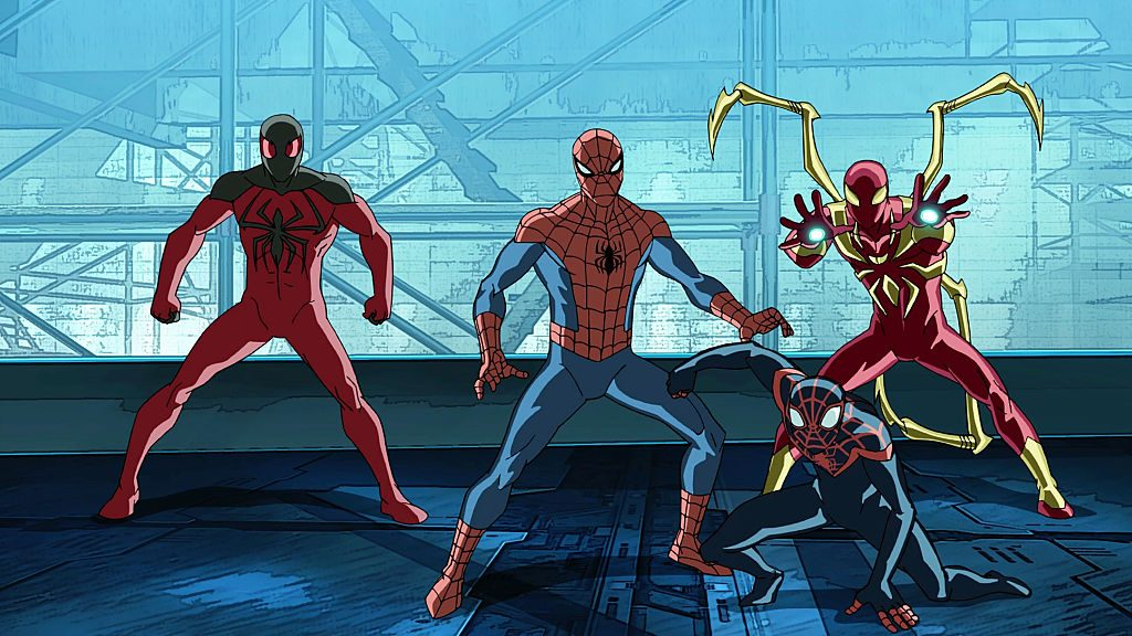SCARLET SPIDER, SPIDER-MAN, MILES MORALES, IRON SPIDER | Disney XD via Getty Images