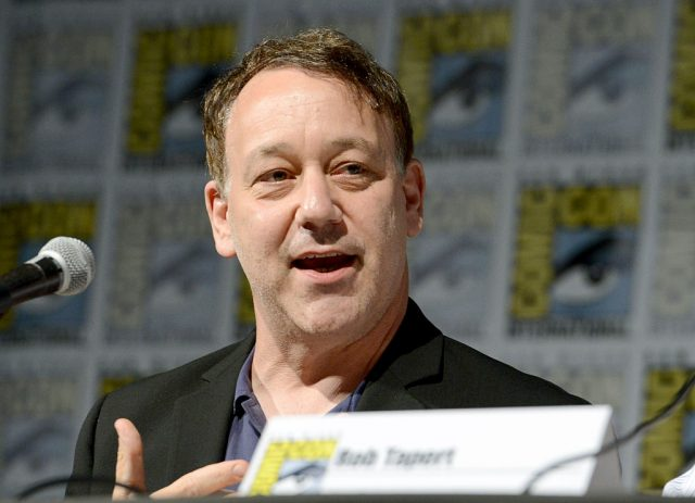 Sam Raimi on stage at San Diego Comic-Con