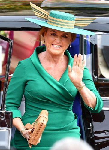 Sarah Ferguson at Princess Eugenie's wedding