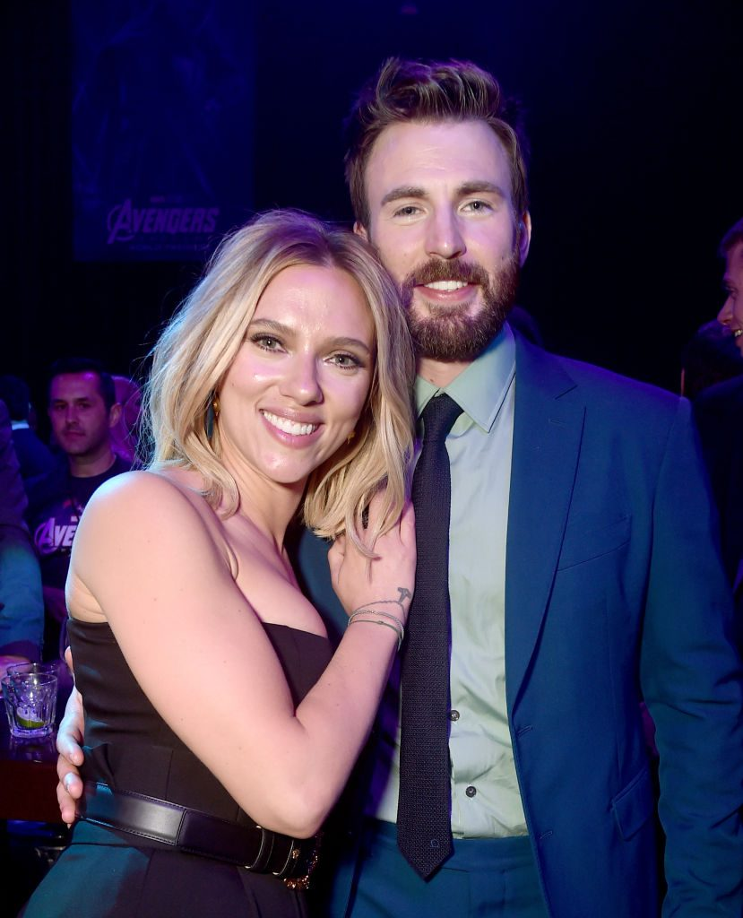 Black Widow actress Scarlett Johansson and Captain America actor Chris Evans