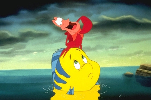 Sebastian and Flounder in The Little Mermaid
