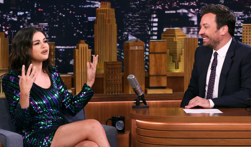 Selena Gomez and Jimmy Fallon