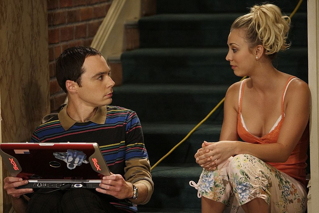Kaley Cuoco as Penny and Jim Parsons as Sheldon Cooper