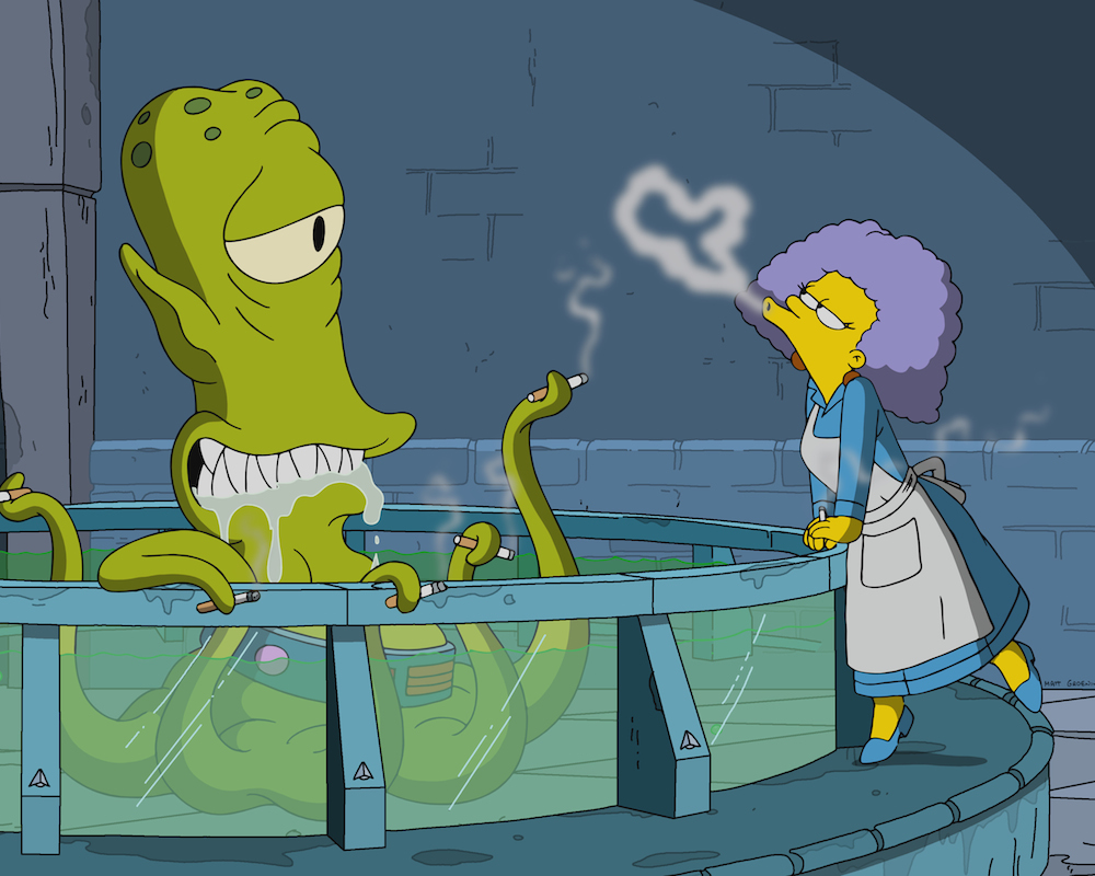 The Simpsons Shape of Water spoof