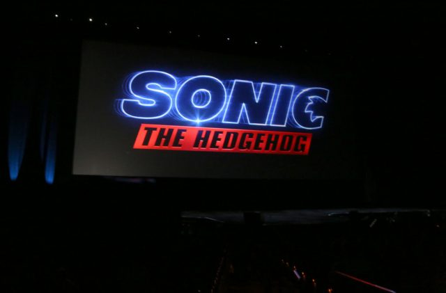 'Sonic the Hedgehog' logo at CinemaCon