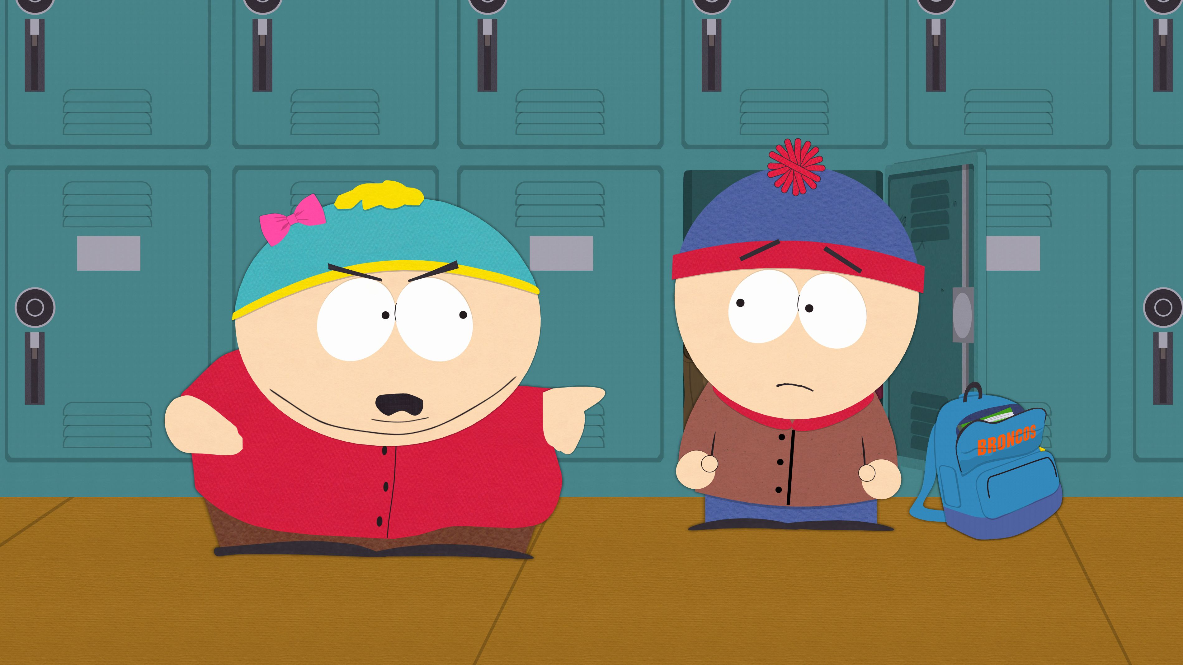 Cartman and Stan in South Park