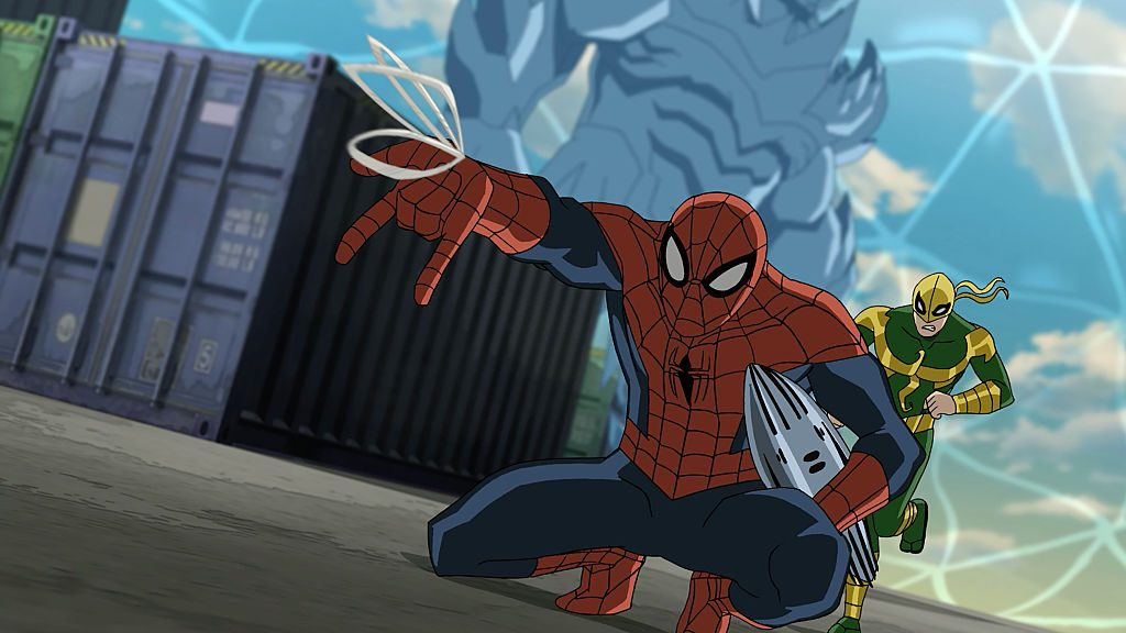 Spider-Man using his web slinger | Disney XD via Getty Images