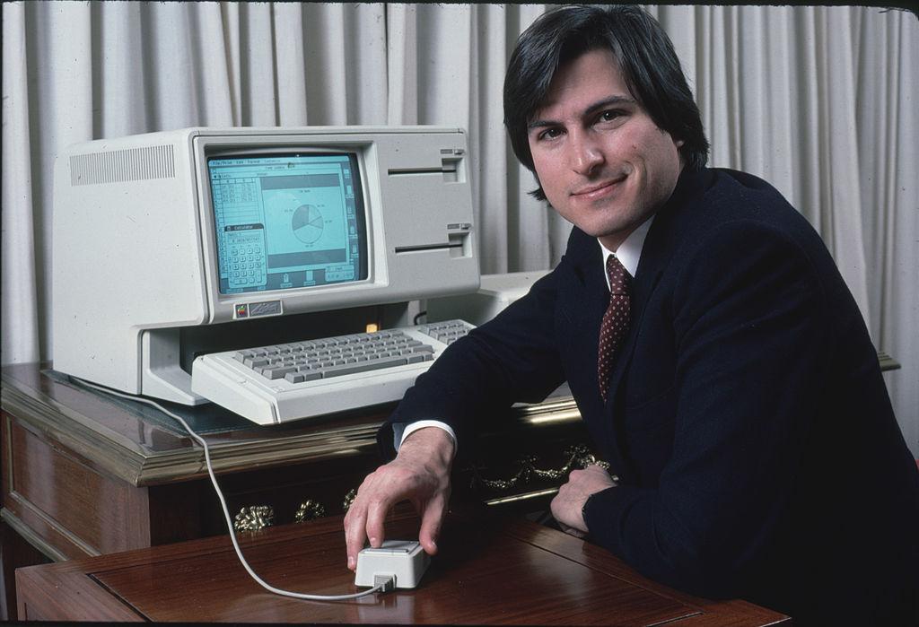 Steve Jobs with Lisa