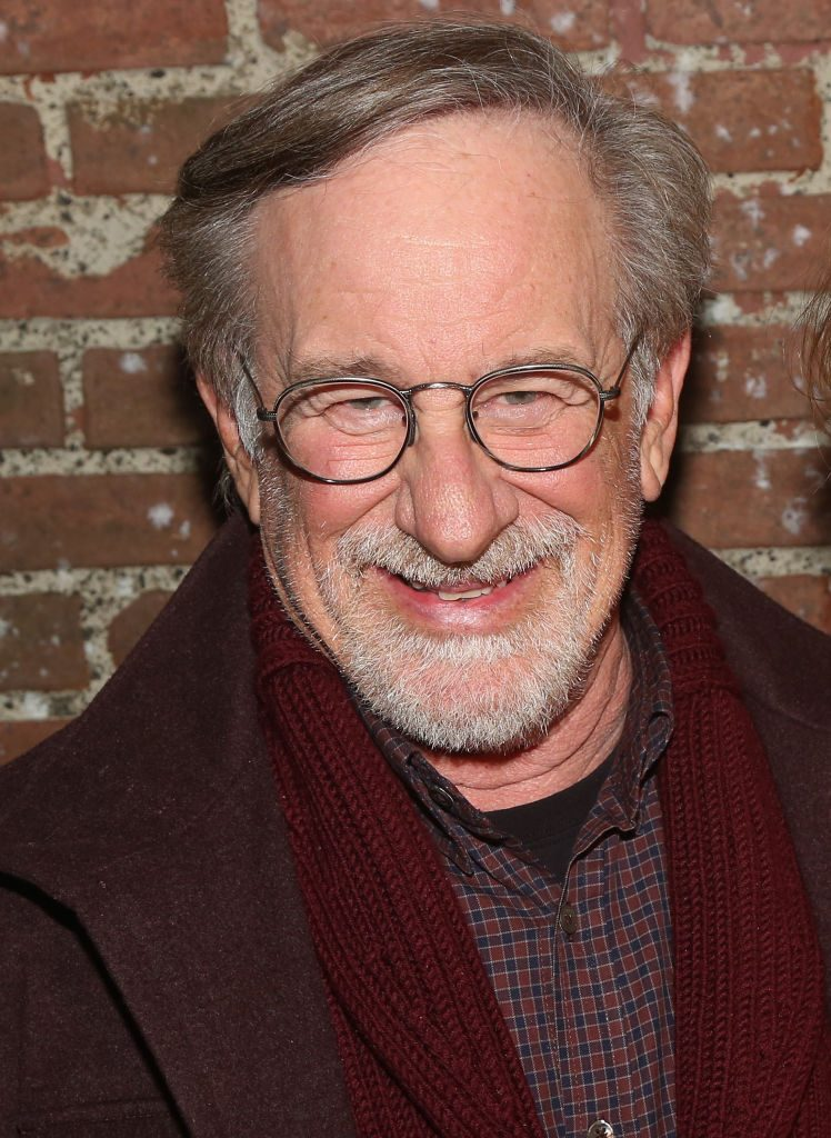"""Steven Spielberg poses backstage at the hit play """"What The Constitution Means to Me"""""""