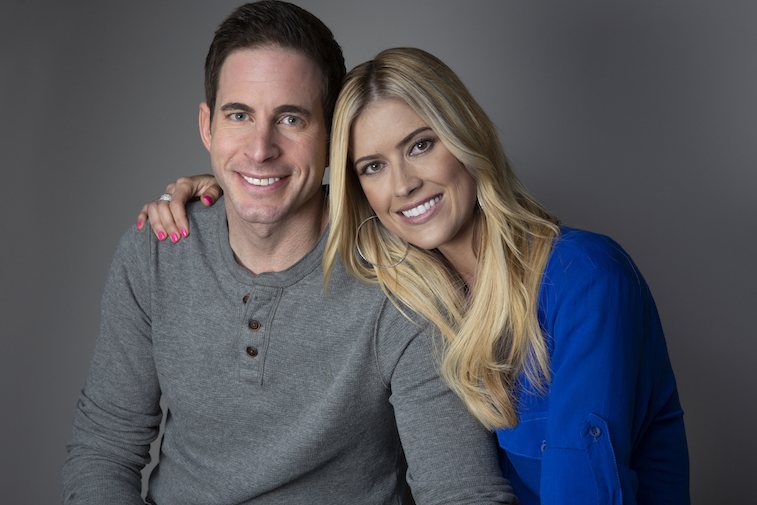 Tarek El Moussa and Christina Anstead posing for a photo together
