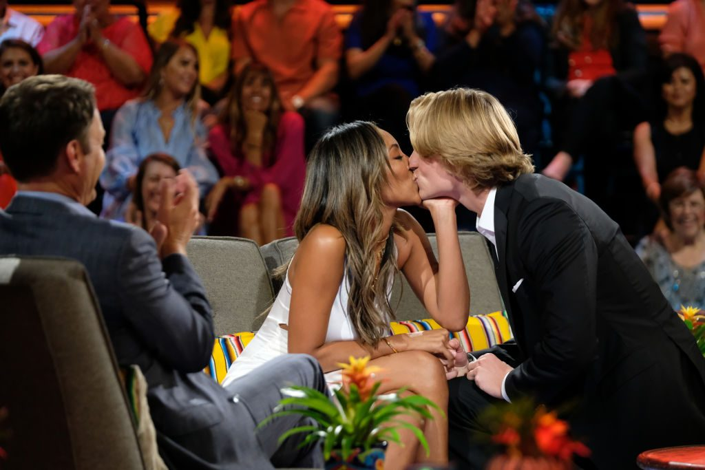 Tayshia Adams and John Paul Jones on the 'Bachelor in Paradise' finale