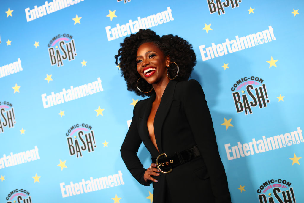 Teyonah Parris on a red carpet.