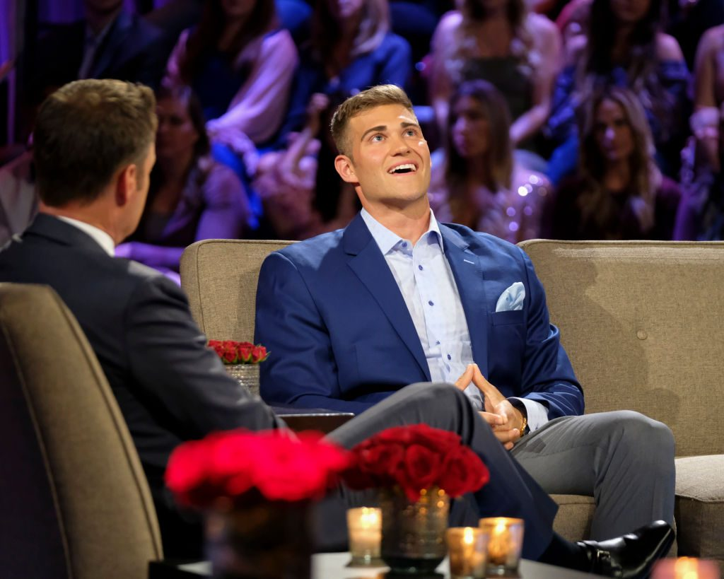 Luke Parker and Chris Harrison on 'The Bachelorette'