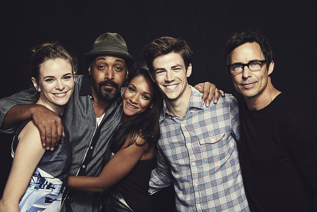 Danielle Panabaker, Jesse L. Martin, Candice Patton, Grant Gustin, and Tom Cavanagh of 'The Flash'