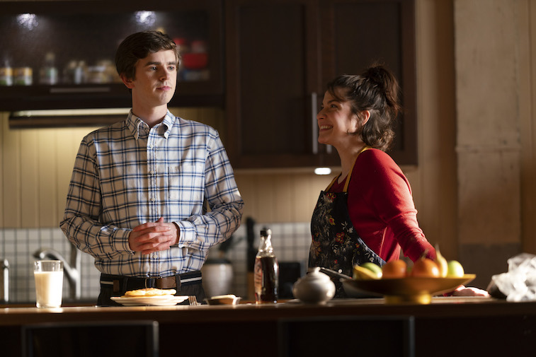 Freddie Highmore and Paige Spara on The Good Doctor