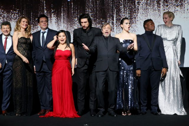 The cast of 'Star Wars: The Last Jedi' at the film's world premiere | Jesse Grant/Getty Images for Disney