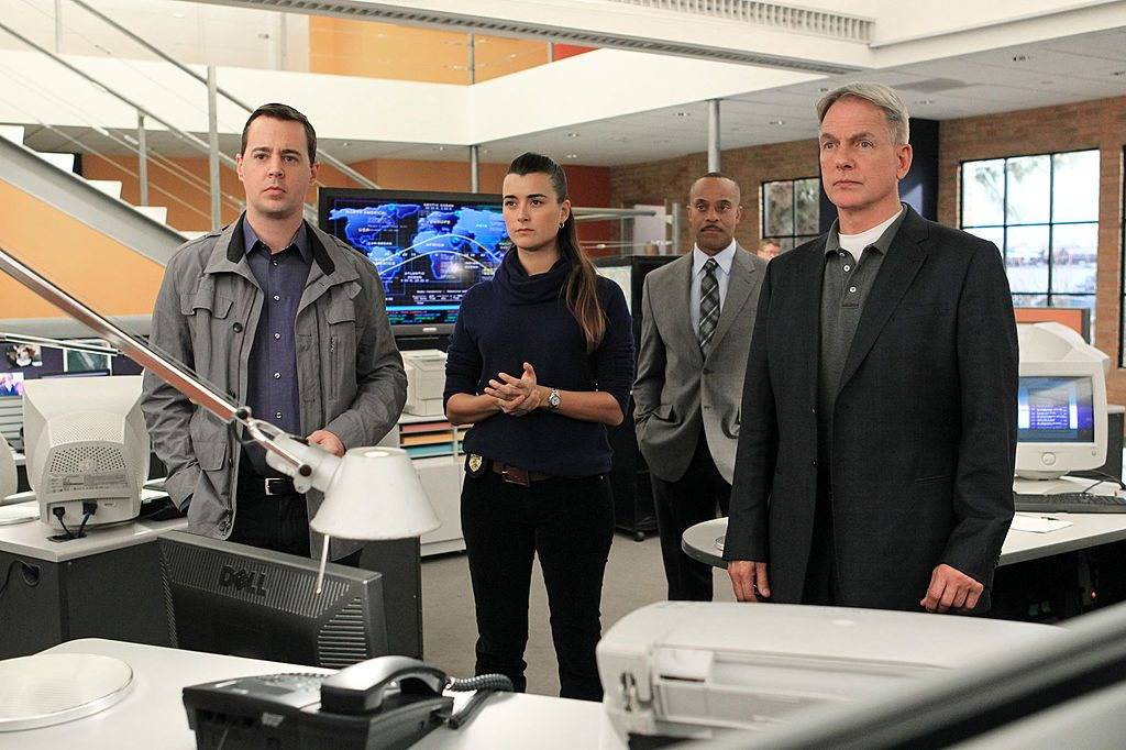 Mark Harmon,  Sean Murray, Cote de Pablo and Rocky Carroll | Sonja Flemming/CBS via Getty Images