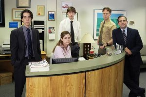 Who Was the Cast of 'The Office' Interacting With Behind the Camera?