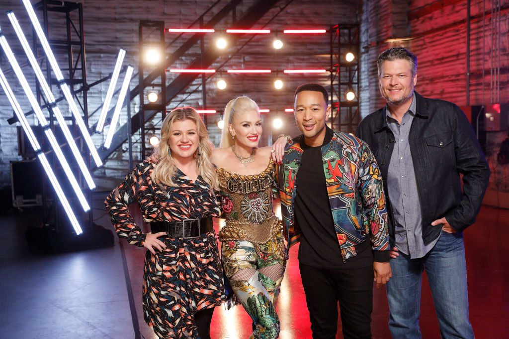 The Voice Kelly Clarkson, Gwen Stefani, John Legend, and Blake Shelton