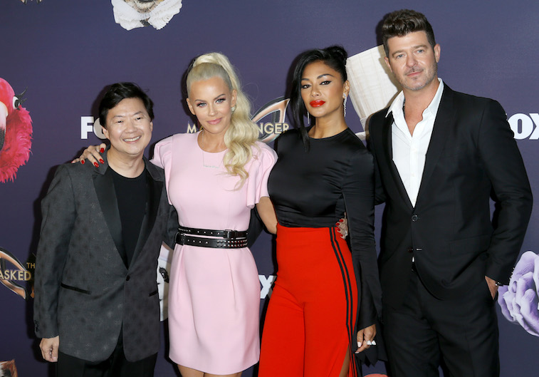 Ken Jeong, Jenny McCarthy, Nicole Scherzinger and Robin Thicke on the red carpet