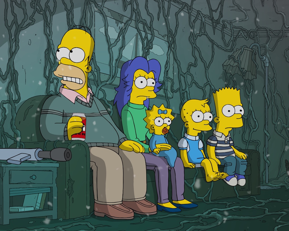 The Simpsons Stranger Things spoof