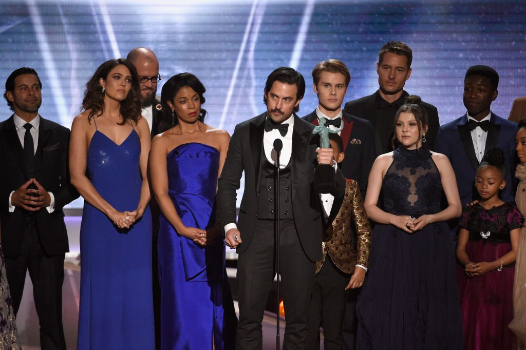 """Milo Ventimiglia and the cast of """"This Is Us"""" at the Screen ActorsGuild Awards"""