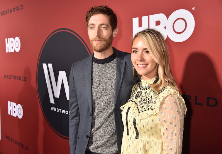Thomas Middleditch and Mollie Gates on the red carpet