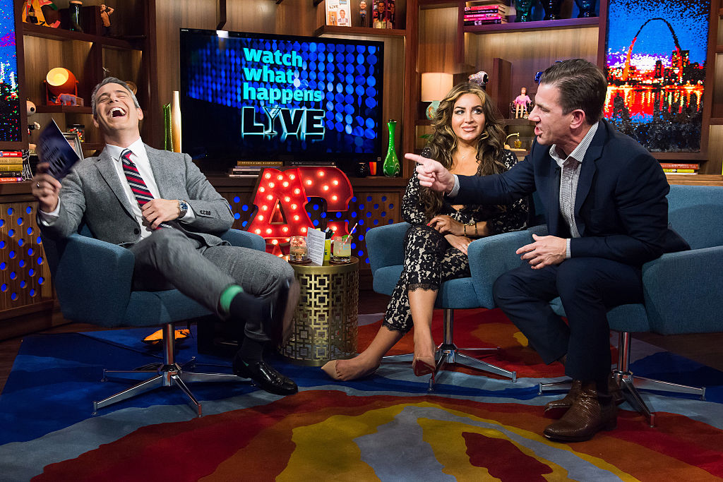 Andy Cohen, Mercedes Javid and Thomas Ravenel