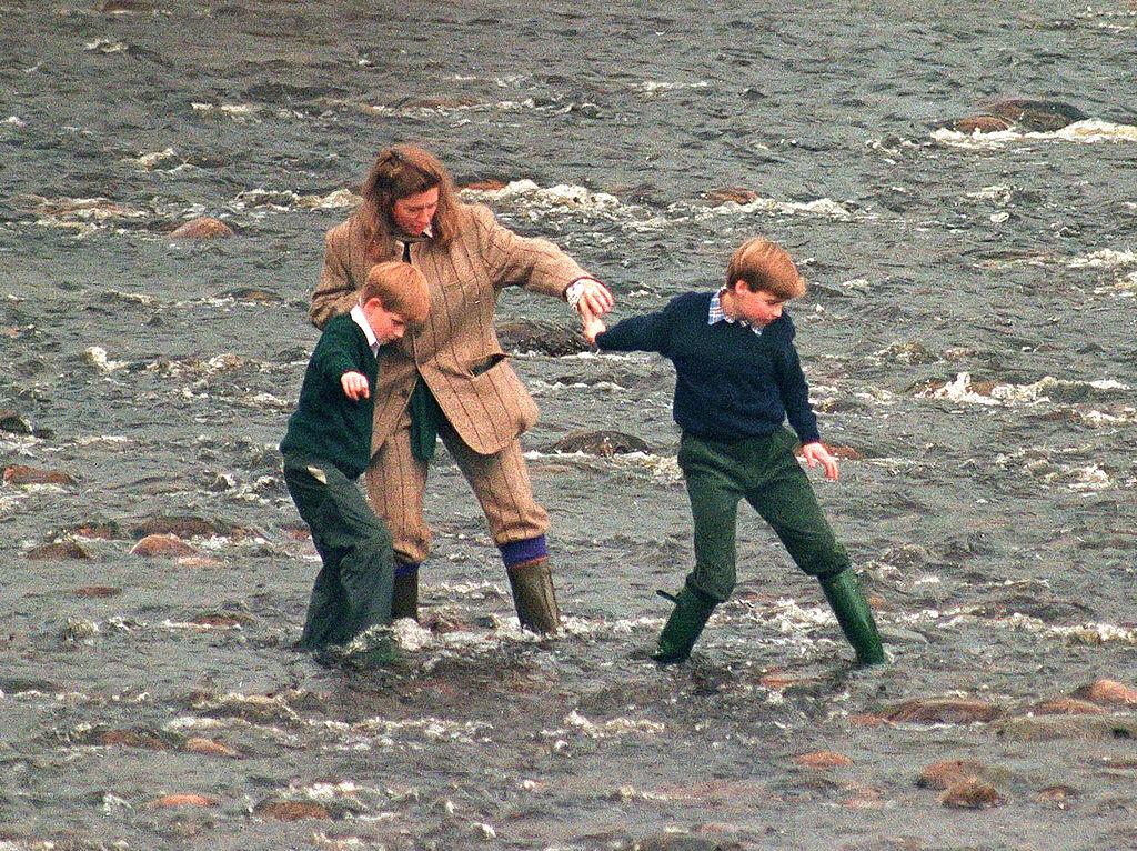 Tiggy, Prince William, and Prince Harry