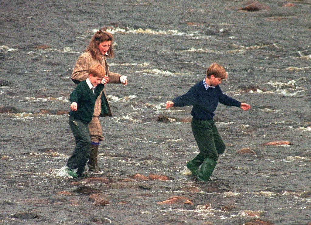 Tiggy, Prince William and Prince Harry