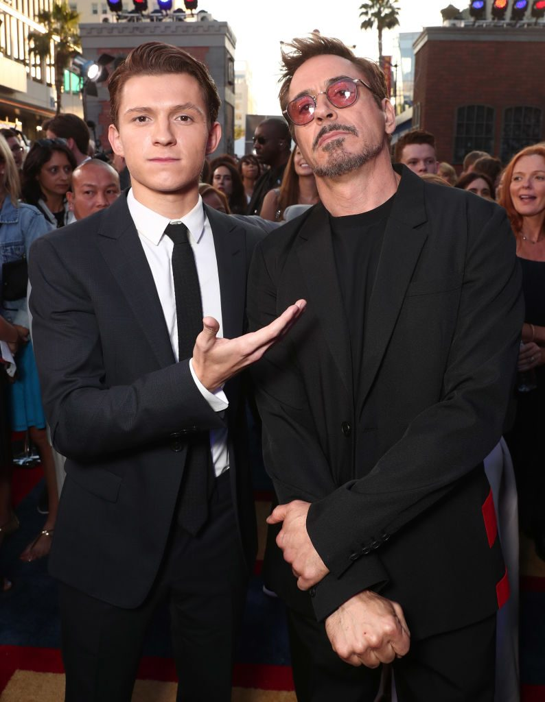 Tom Holland and Robert Downey Jr.