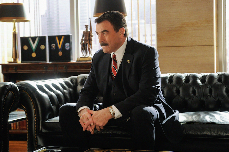 Tom Selleck as his 'Blue Bloods' character Frank Reagan