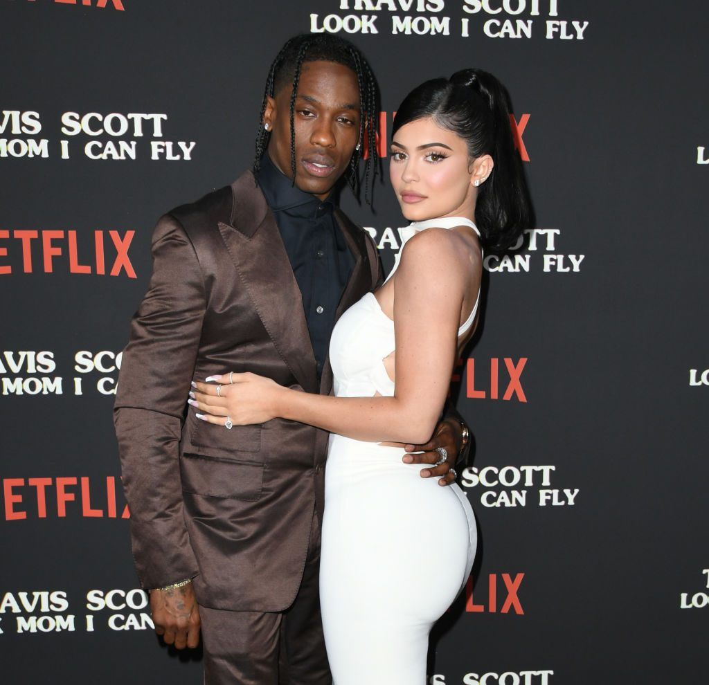 Travis Scott and Kylie Jenner at Netflix's Look Mom I Can Fly Premiere