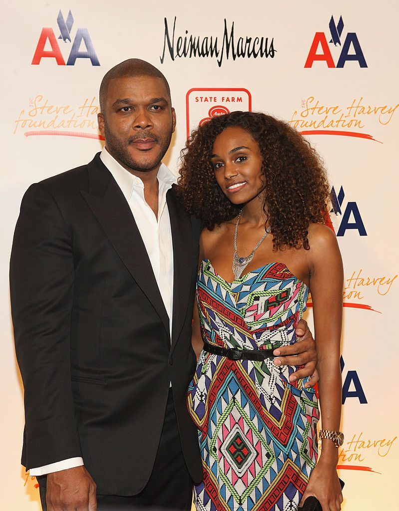 Tyler Perry and model Gelila Bekele on the red carpet
