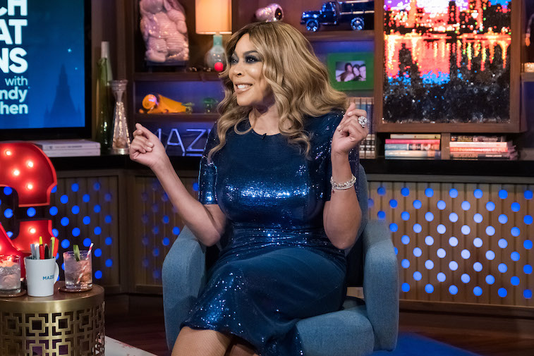 Wendy Williams on the set of Watch What Happens Live