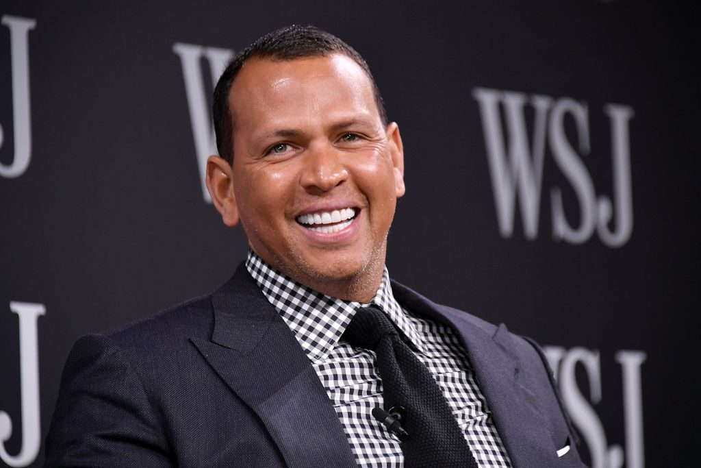 Alex Rodriguez takes part in a panel during WSJ's The Future of Everything Festival.