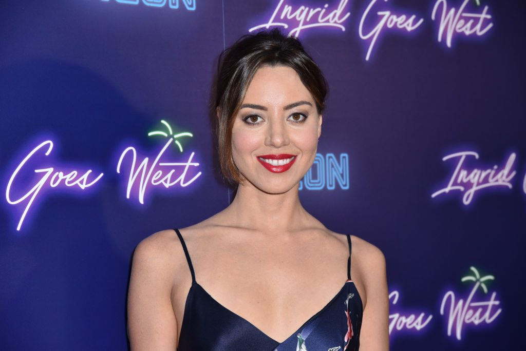 """Aubrey Plaza attends Neon hosts the New York Premiere of """"Ingrid Goes West"""" at Alamo Drafthouse Cinema."""