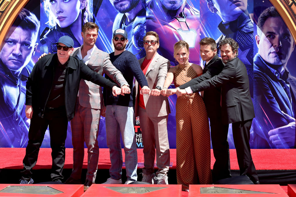 The original cast of 'Avengers' at the Chinese Theater.