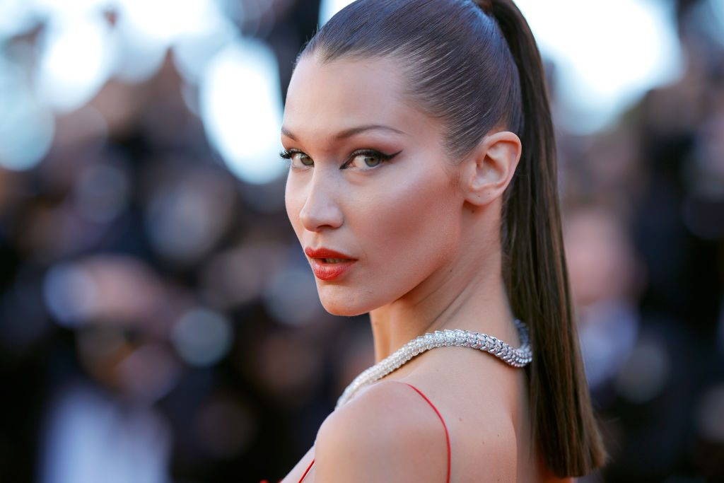 "Bella Hadid attends the ""Okja"" screening during the 70th annual Cannes Film Festival."