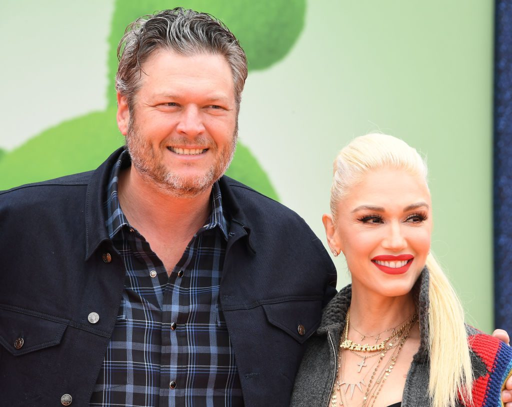 "Gwen Stefani and Blake Shelton arrive at the STX Films World Premiere Of ""UglyDolls"" at Regal Cinemas L.A. Live."