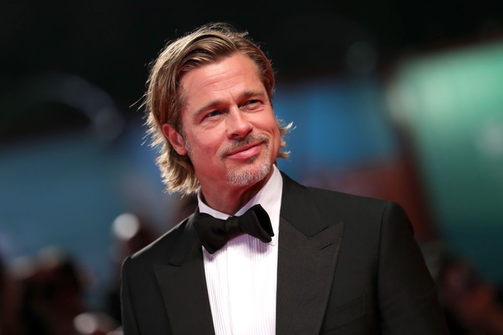 "Brad Pitt walks the red carpet ahead of the ""Ad Astra"" screening during the 76th Venice Film Festival."