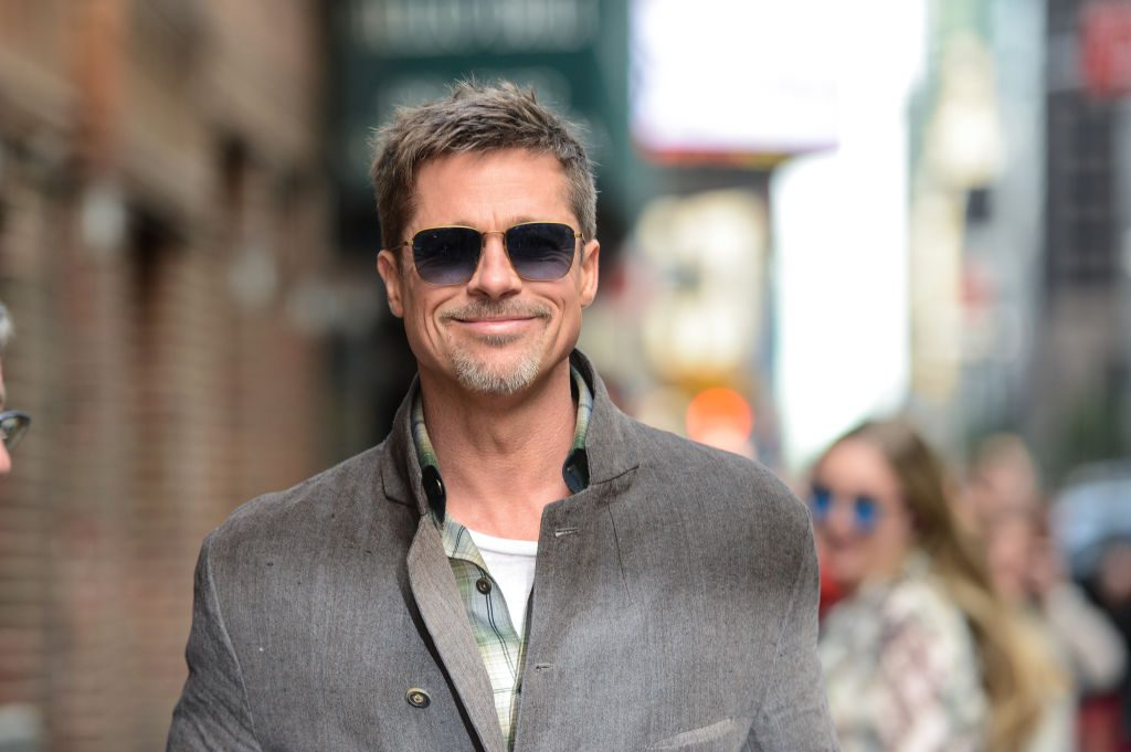 """Brad Pitt leaves the """"The Late Show With Stephen Colbert"""" taping at the Ed Sullivan Theater."""