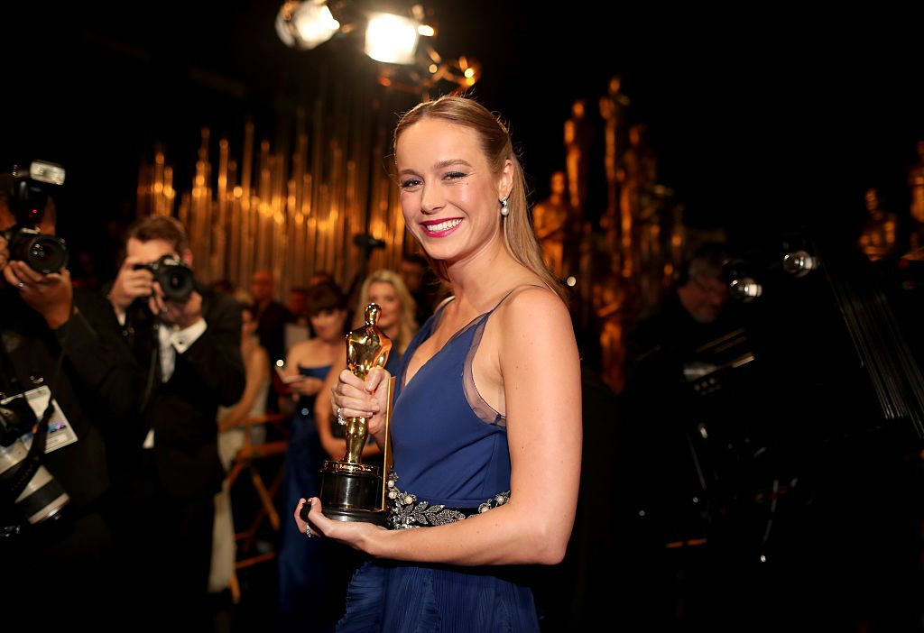 Brie Larson at the 88th Annual Academy Awards.