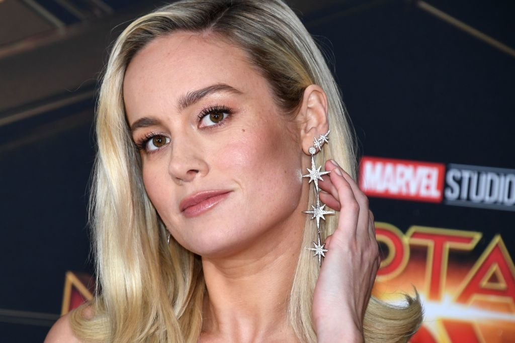 "Brie Larson attends the world premiere of ""Captain Marvel"" in Hollywood, California."